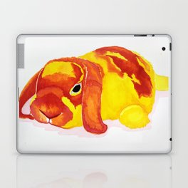 Fluffy Bunny Pillow Laptop & iPad Skin