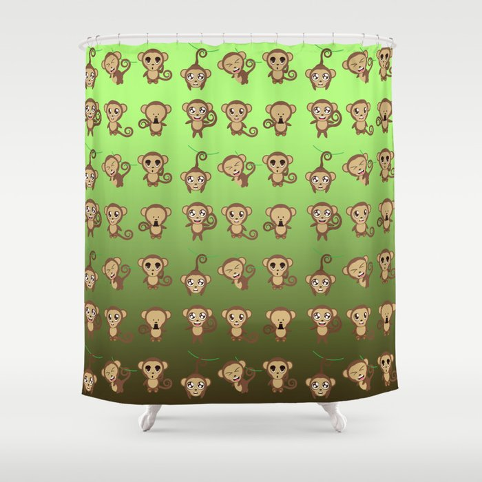 Funny Monkeys Shower Curtain