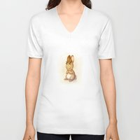 jackalope V-neck T-shirts featuring Jackalope by Chelsea Kenna