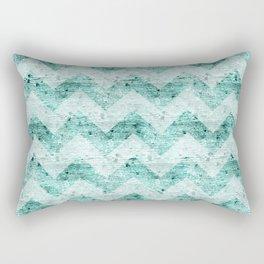 Teal Wood Chevron  Rectangular Pillow
