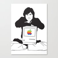 steve jobs Canvas Prints featuring steve jobs by manish mansinh