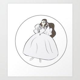 Sarah's Ballroom Gown Art Print