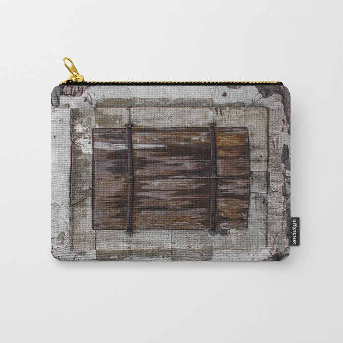 Wooden Window Carry-All Pouch