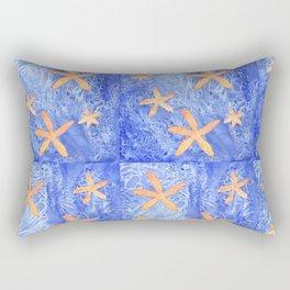 Sea Star Patchwork Watercolor Pattern Rectangular Pillow