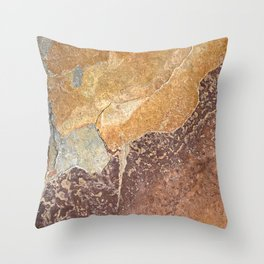 Natural Red Rift Throw Pillow