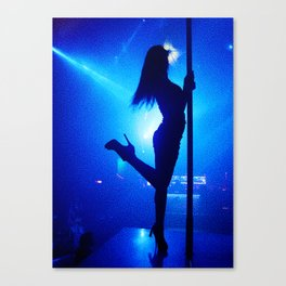 Pole dancing Canvas Print