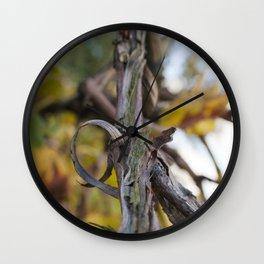 Grape Vine in Autumn Wall Clock