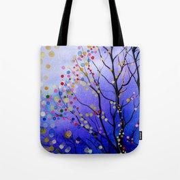 sparkling winter night sky Tote Bag
