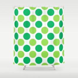 Green polka dots Shower Curtain