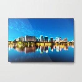 Orlando Skyline Metal Print