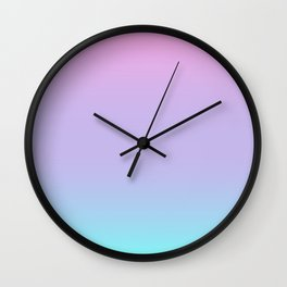 Pretty Pastel Colors Wall Clock