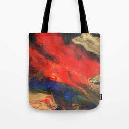 Red n Black Abstract Tote Bag