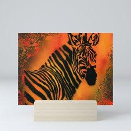 Orange Zebra Mini Art Print