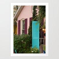 Blue Shudder Art Print