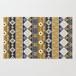 Colorful Aztec pattern with gold. Rug