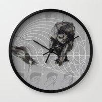 fibonacci Wall Clocks featuring Fibonacci by eglerama