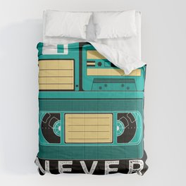Never Forget   Retro VHS Cassette Tape Floppy Disk Comforters