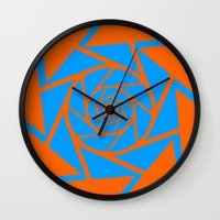 vector Wall Clocks featuring Aperture Vector by Alli Vanes