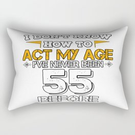 Funny Birthday Gift 55 Years Sixty Born in 1963 Rectangular Pillow