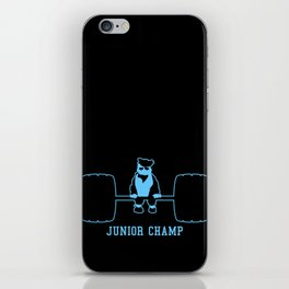 Junior Champ Weight Lifter V6S2 iPhone Skin