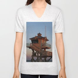 Guard Tower At Dusk Unisex V-Neck