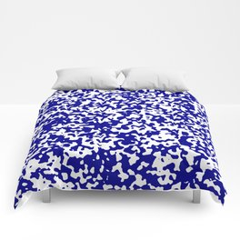 Small Spots - White and Dark Blue Comforters