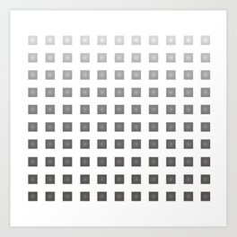GRAY + WHITE Art Print