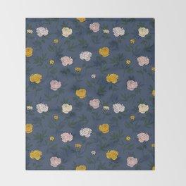 Peony pattern Throw Blanket