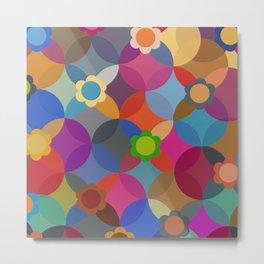 Geometric Floral Metal Print