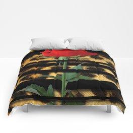 Leopard Print Black Stripes & Intertwining Rose Comforters