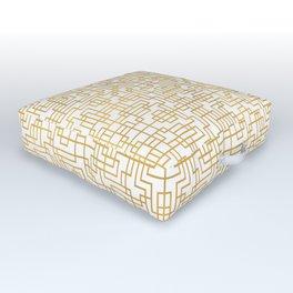 Geometric Symmetry Gold 2 Outdoor Floor Cushion