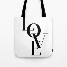 """LOVE"" Typography Art Tote Bag"