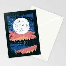 Starry Pixel Night Stationery Cards