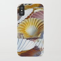 shells iPhone & iPod Cases featuring Shells by jacqi elmslie