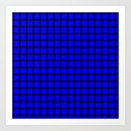 Small Blue Weave Art Print