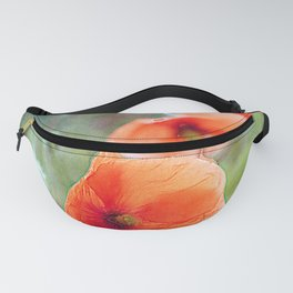 Vintage poppies (10) Fanny Pack