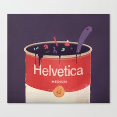 Helveti-soup Canvas Print