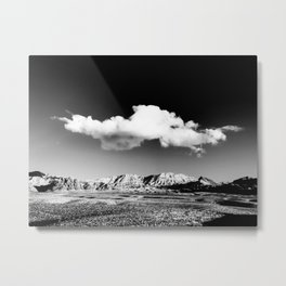 Black Sky Desert Landscape // Red Rock Canyon Las Vegas Nevada Mojave Mountain Range Metal Print