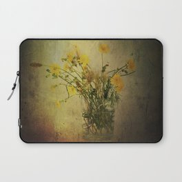 One Glass with pretty yellow weeds Laptop Sleeve