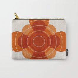 Earthy Red Scandinavian Floral Design Carry-All Pouch
