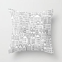 Coit City Pattern 1 Throw Pillow