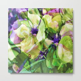 Wistful Floral Metal Print