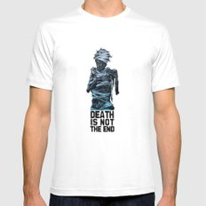 Death is not the end MEDIUM Mens Fitted Tee White