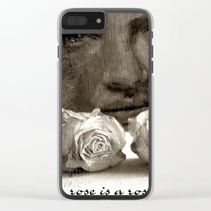 ROSE - vintage version Clear iPhone Case