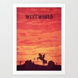Westworld Vintage art Art Print