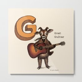 Animals & Instruments ABCs – G Metal Print