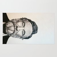 robin williams Area & Throw Rugs featuring Robin Williams by feralsister