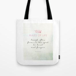 Rules of Life Tote Bag