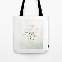 Rules of Life Tote Bag