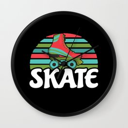 Retro Roller Skate Wall Clock